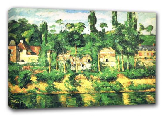 Cezanne, Paul: The Chateau de Medan. Fine Art Landscape Canvas. Sizes: A3/A2/A1 (00112)